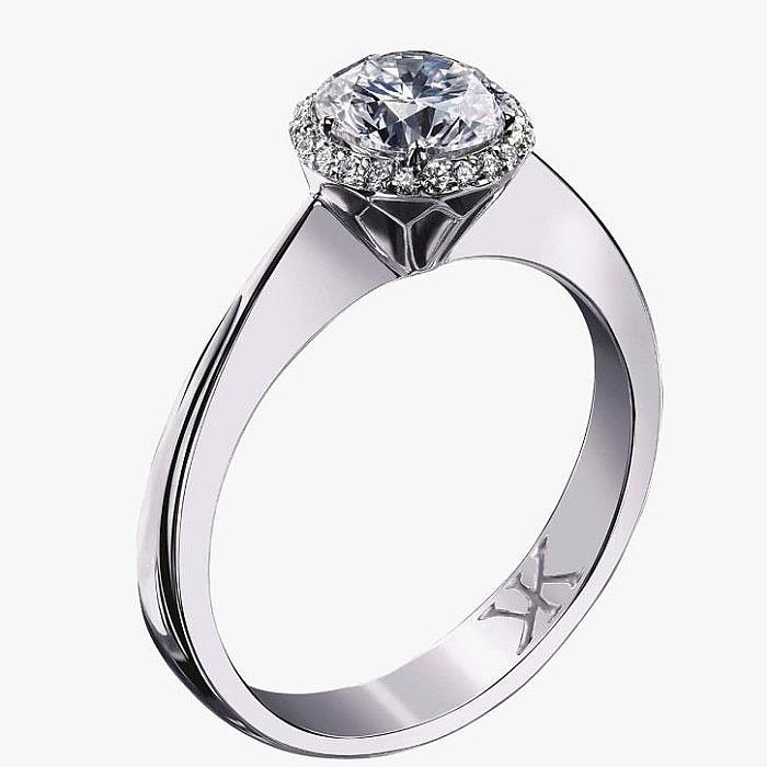 Обручальное кольцо с бриллиантами от Korloff