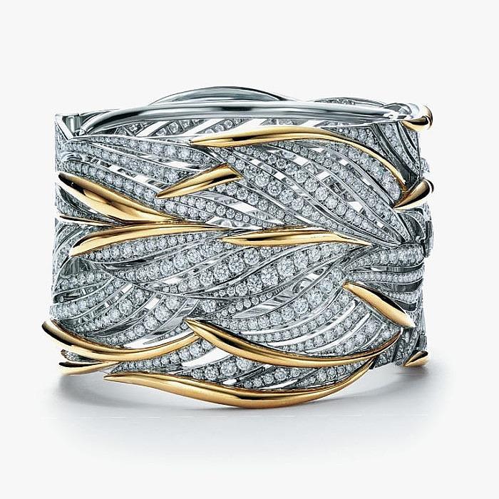 Браслет из золота и платины с бриллиантами от Tiffany & Co.