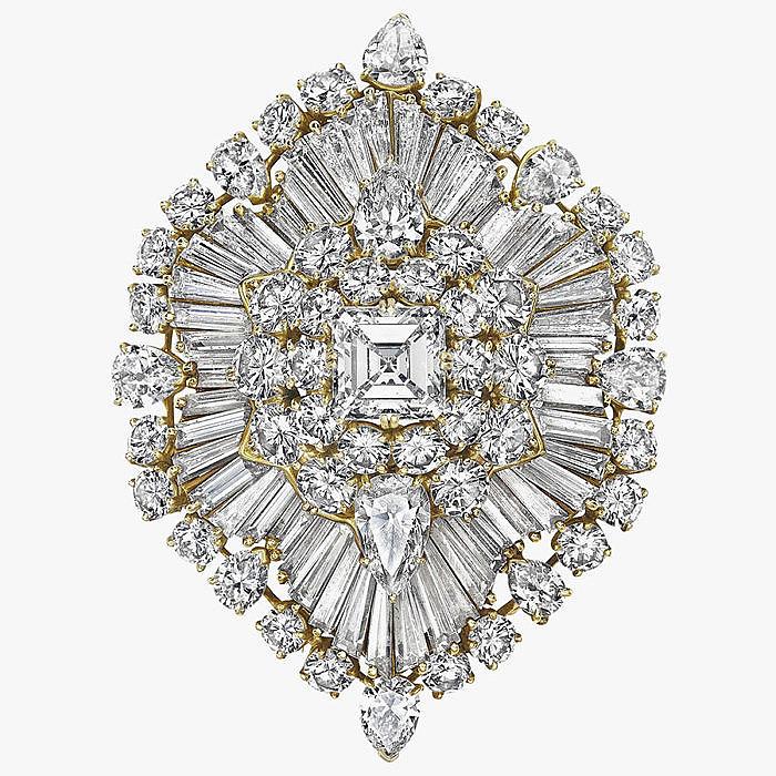 Бриллиантовая брошь-кулон от Van Cleef & Arpels