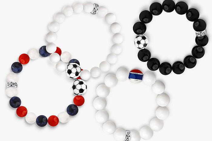 Браслеты с футбольной символикой от Sokolov