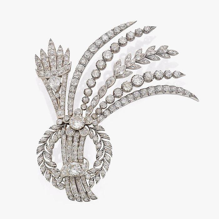 Бриллиантовая брошь-эгрет, конец XVIII–начало XIX века