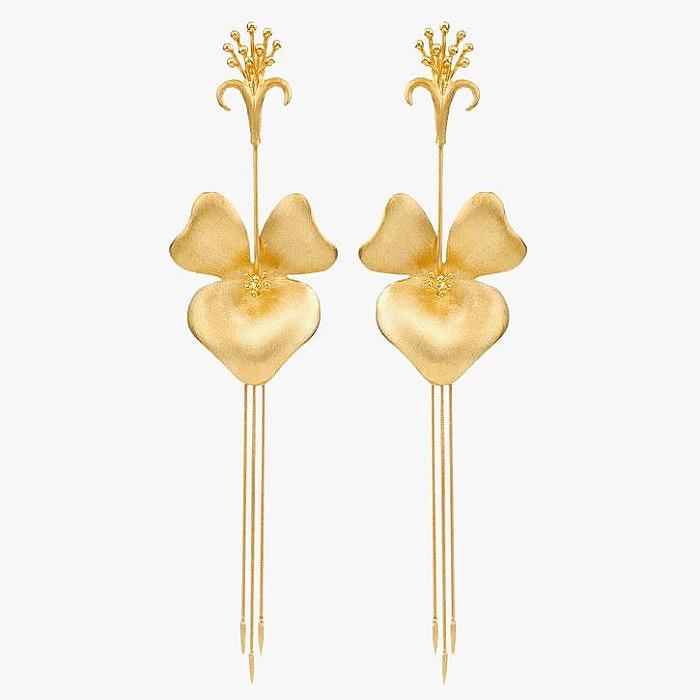 Серьги Florada Orchid из золота от Carla Amorim