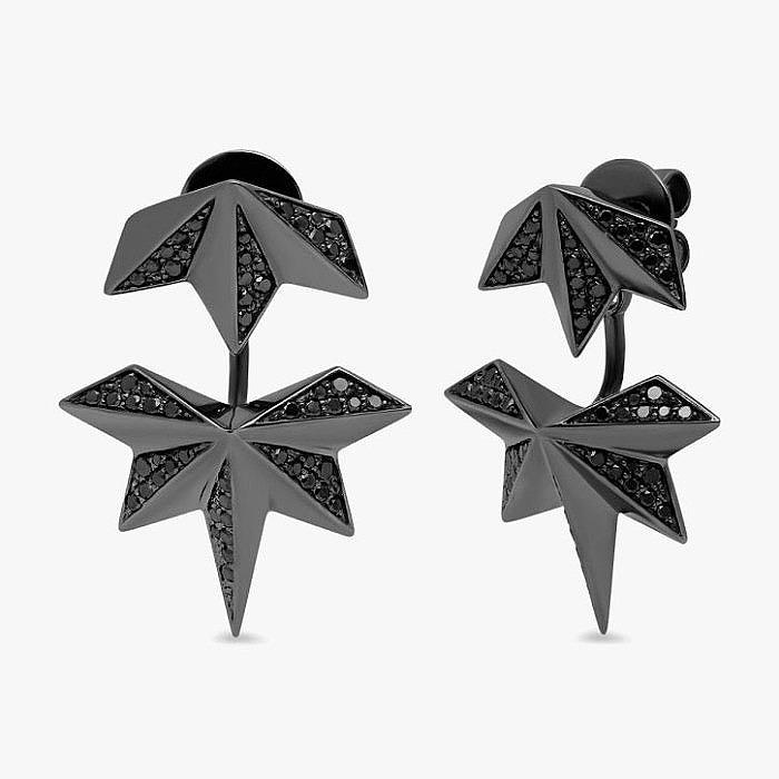 Серьги Nebula с черными бриллиантами от Colette