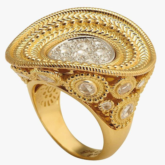 Кольцо Maxi Ruedo из золота с бриллиантами от Carrera y Carrera