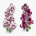 Серьги Chopard Orchid из титана с сапфирами, цаворитами, опалами и фарфором