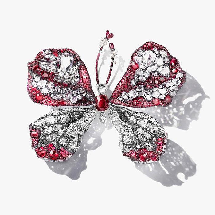 Брошь-бабочка Cindy Chao с 5-каратным рубином