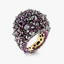 Кольцо из титана с бриллиантами и рубинами от Mattioli