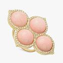 Кольцо с розовыми опалами и бриллиантами от Rock and Gems Jewelry