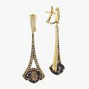 Серьги Rodney Rayner с бриллиантами и дымчатыми топазами