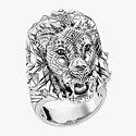 Кольцо из серебра с черными фианитами от Thomas Sabo