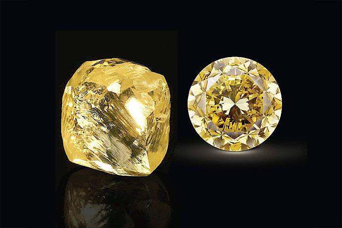 Mouawad огранили огромный желтый алмаз