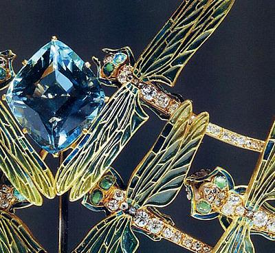 Тиара Rene Lalique со стрекозами, 1900 год