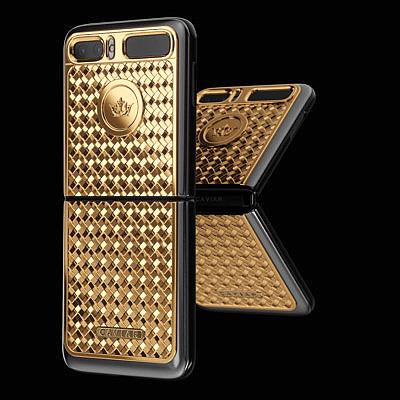 Caviar Samsung Z Flip Gold