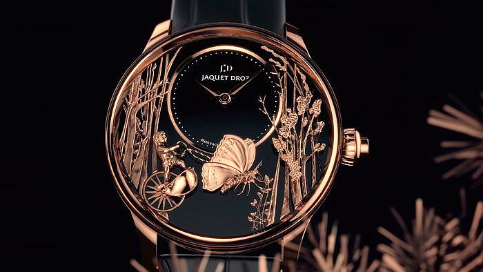 Часы Jaquet Droz Loving Butterfly с циферблатом Chinchilla Red