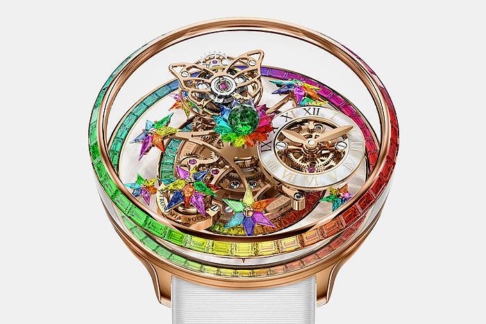 Часы Fleurs de Jardin Rainbow от Jacob & Co. сияют всеми цветами радуги